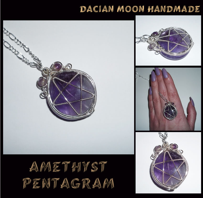 Amethyst Pentagram by NessaSilverwolf
