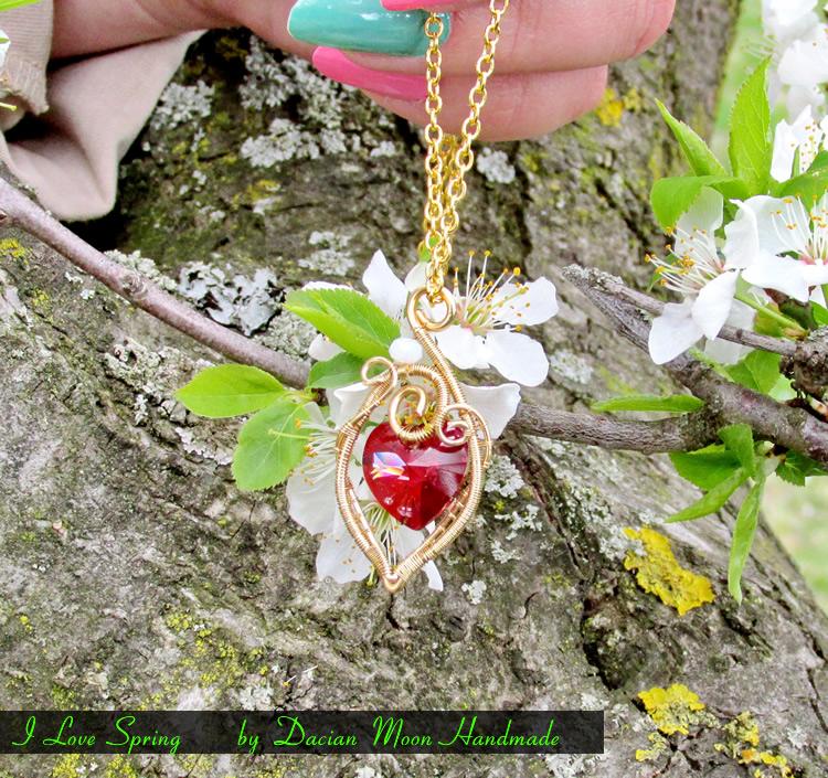 I Love Spring pendant by NessaSilverwolf
