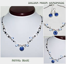 Royal Blue jewelry set