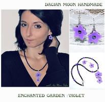 Enchanted Garden : Violet jewelry set