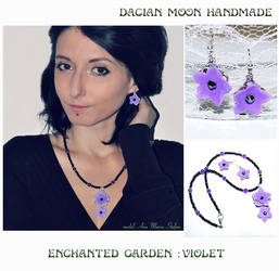 Enchanted Garden : Violet jewelry set