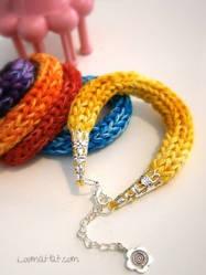 Loom Knit Bracelet by LoomaHat