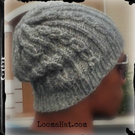Loom Knit Slouchy Hat Free Pattern Chain Links By Loomahat On