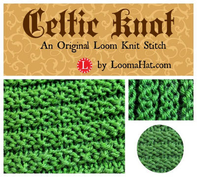 Knit And Purl Stitch On Loom : Celtic Knot Loom Knit Stitch Pattern by LoomaHat on DeviantArt