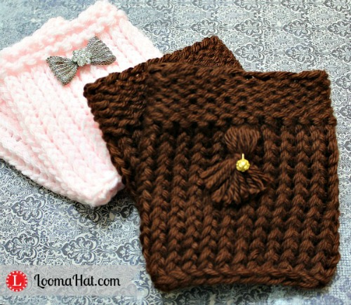 Loom Knit Boot Cuffs By Loomahat On Deviantart