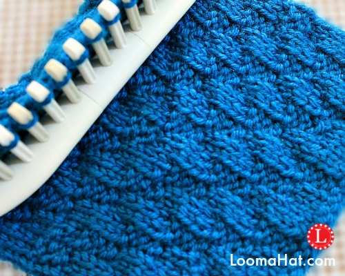 Knitting On The Net Stitches : Loom knitting stitches diagonal stitch by loomahat on