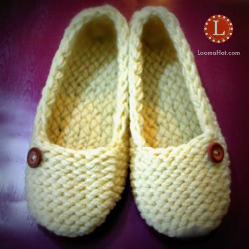 Loom Knit Slippers Socks by LoomaHat on DeviantArt