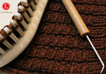 Bamboo Stitch on a Knitting Loom by LoomaHat