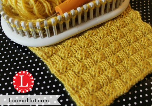 Loom Knitting Stitches: Basket Weave Stitch by LoomaHat on DeviantArt