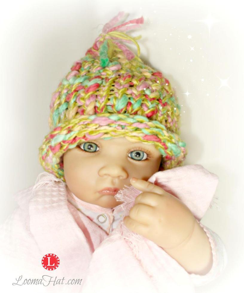 Loom Knit Pixie Hat - Life Like Doll Pattern Model by LoomaHat on DeviantArt