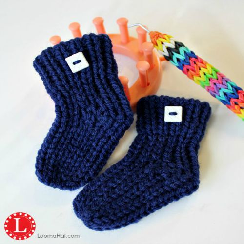 Loom Knit Baby Booties FREE Pattern with Video by LoomaHat ...
