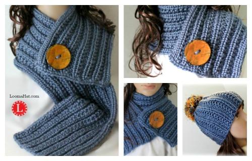 Loom Knit Farrow Stitch Scarf by LoomaHat