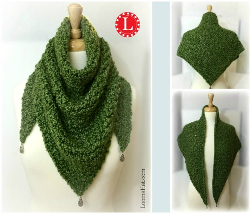 Knitting Patterns For Triangle Scarves : Loom Knit Triangle Shawl by LoomaHat on DeviantArt