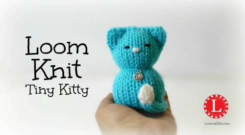 Loom Knit Tiny Kitty by LoomaHat