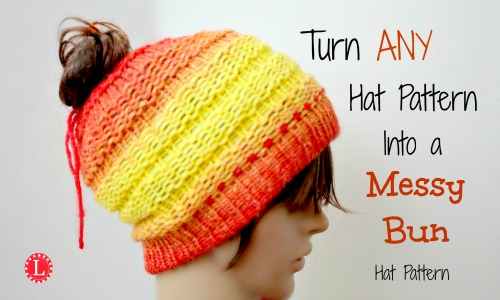 Messy Bun Hat Bind-off by LoomaHat on DeviantArt