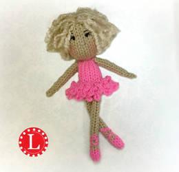 Loom Knit Ballerina Doll Pattern by LoomaHat