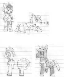 Sketches (minor spoilers) by ClickClacktheBrony
