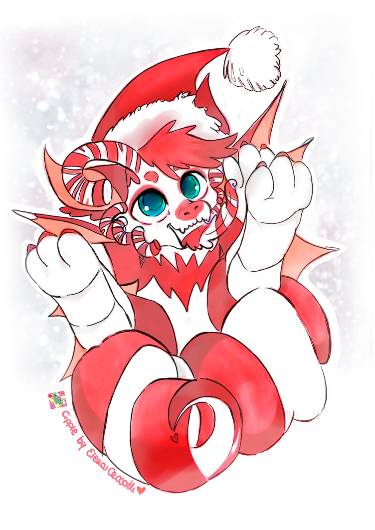 Piper Chibi Merry Christmas Commission by Cipple