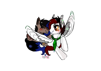 Mlp couple commission by Cipple