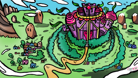 MLP_PAPER MARIO STYLE BG by Cipple