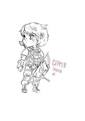 CHIBI SKETCH COMMISSION by Cipple