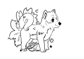 Hachiko COLOURING BOOK COMMISSION by Cipple
