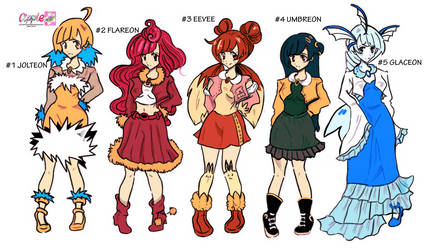 jiginka EEVEELUTIONS ADOPTABLES -OPEN 3/5 by Cipple