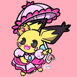 princess pichu peach icon commission by Cipple