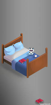 Game art isometric bed