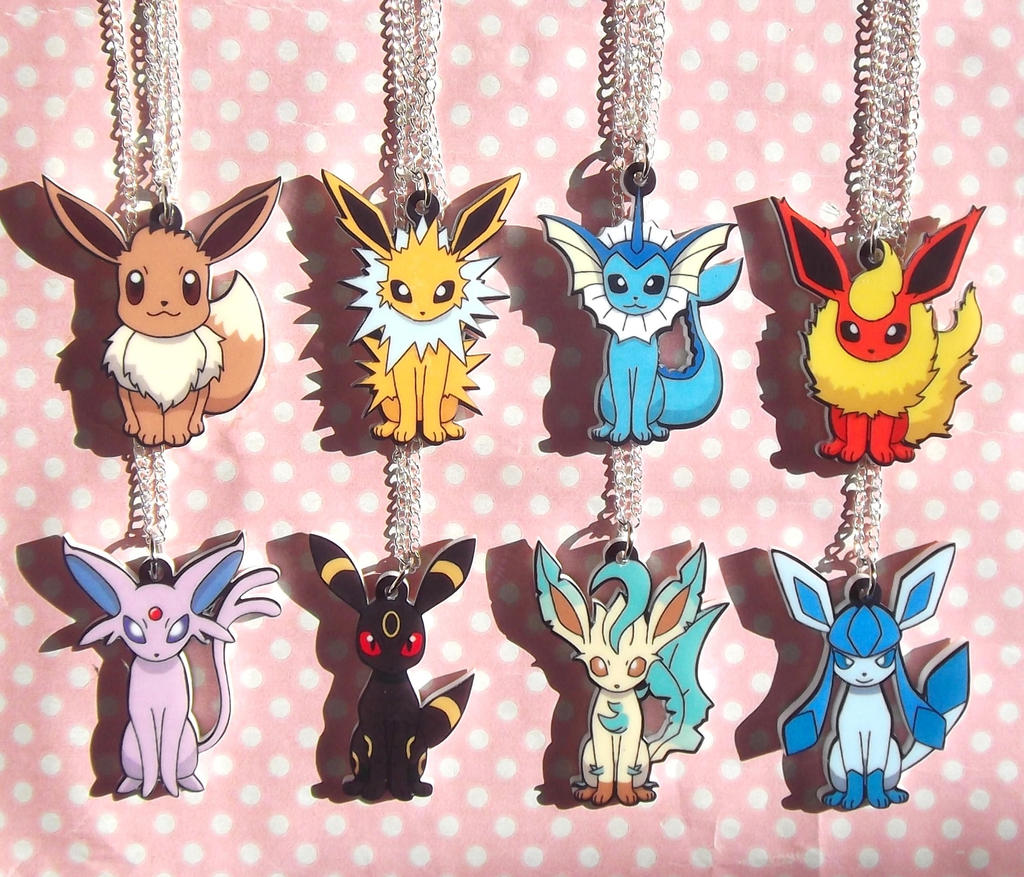 Super Cute Eeveelution pendant necklaces by KawaiiMoon24