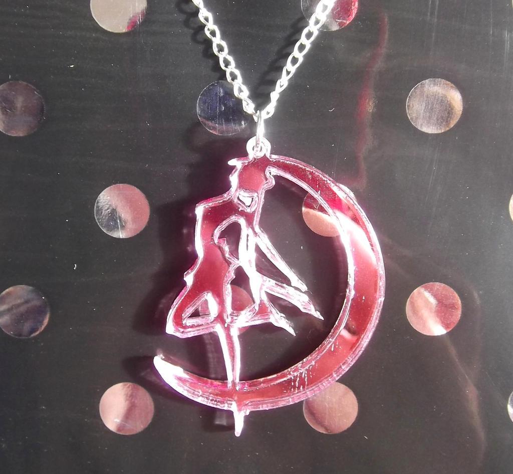 pretty sailor moon silhouette mirror necklace by kawaiimoon24 on