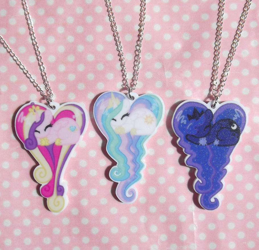 My little pony princess sleeping heart necklaces by kawaiimoon24 on my little pony princess sleeping heart necklaces by kawaiimoon24 aloadofball Gallery