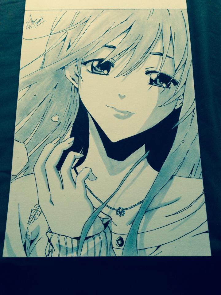 Yuzuki Eba -Kimi no iru machi- by DexadiDraw