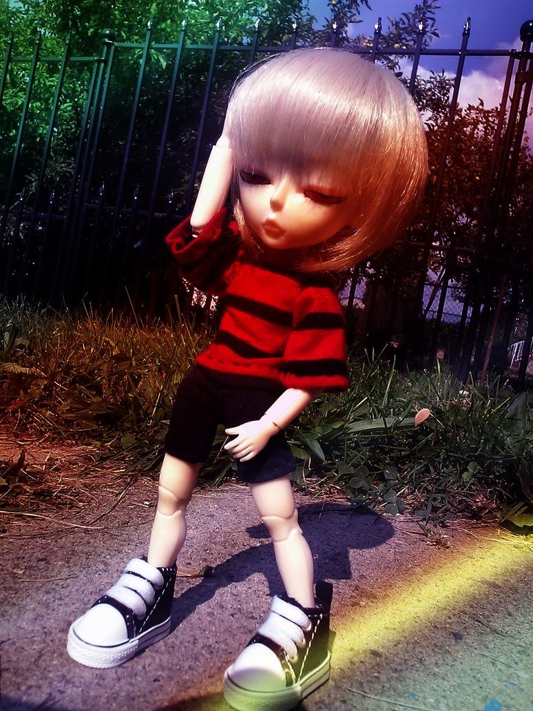 The Boy And His Shadow by MarcelineKhepri