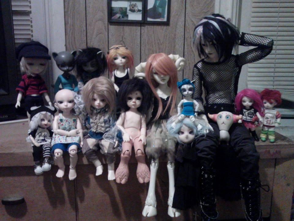 Woops, I accidentally 14 1/2 dolls. by MarcelineKhepri
