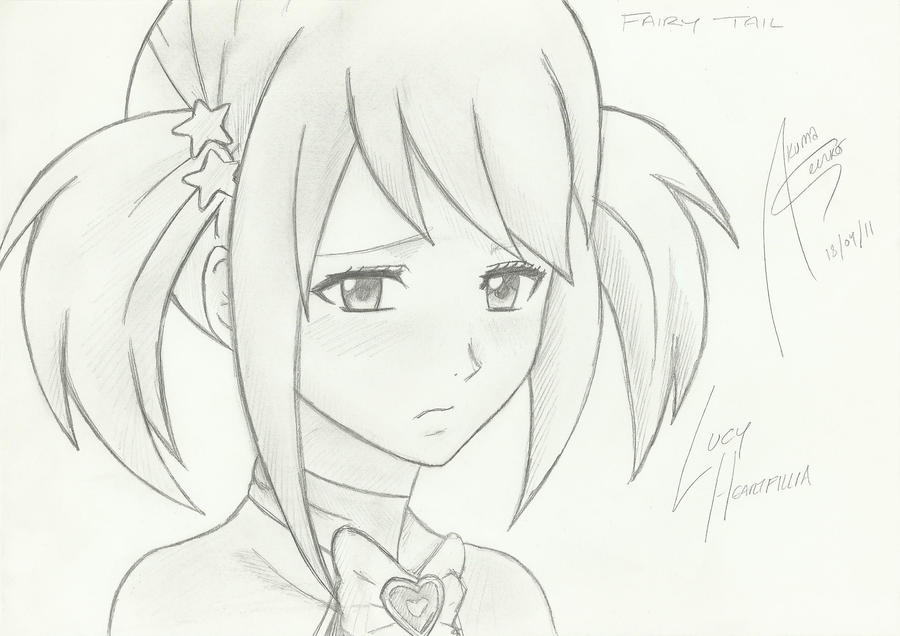 Lucy fairy tail by akumaseinko on deviantart - Lucy fairy tail drawing ...