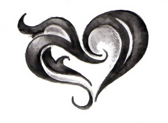 Tribal Heart Doodle by Tribal Heart Drawing