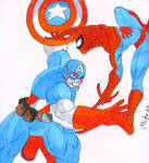 Captain America VS Spiderman