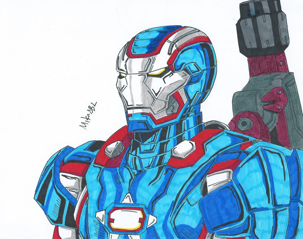 Iron Patriot Drawing Iron patriot by mikees