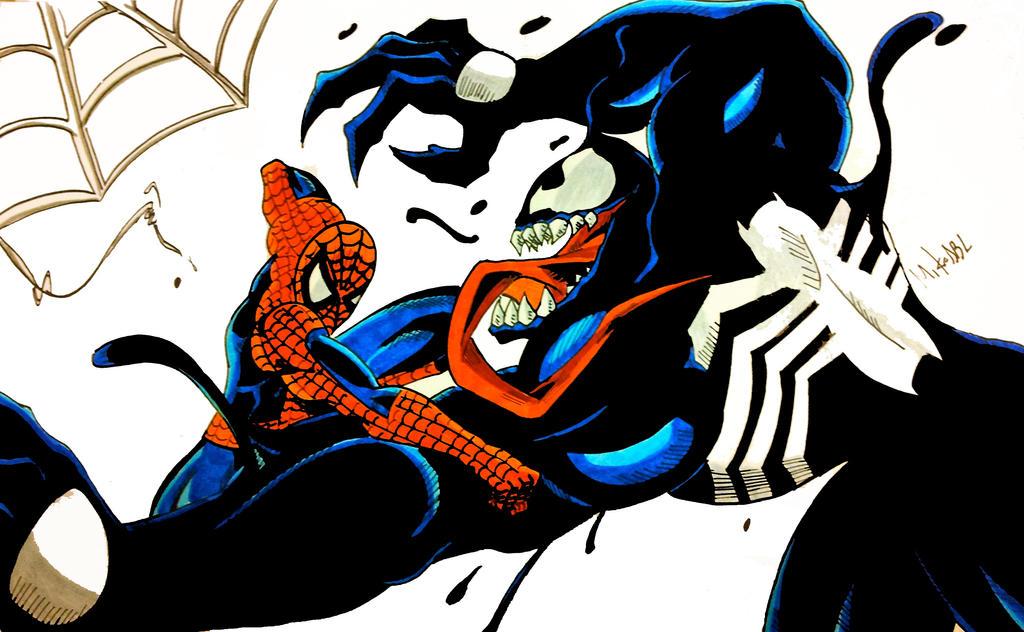 Spiderman Vs Venom 2 by MikeES on DeviantArt