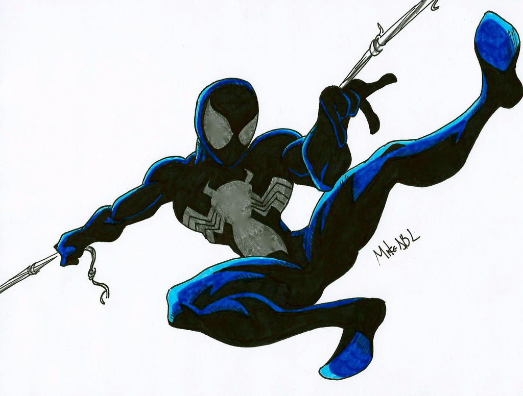 Ultimate Spiderman Black Suit Spiderman Black Suit by MikeES