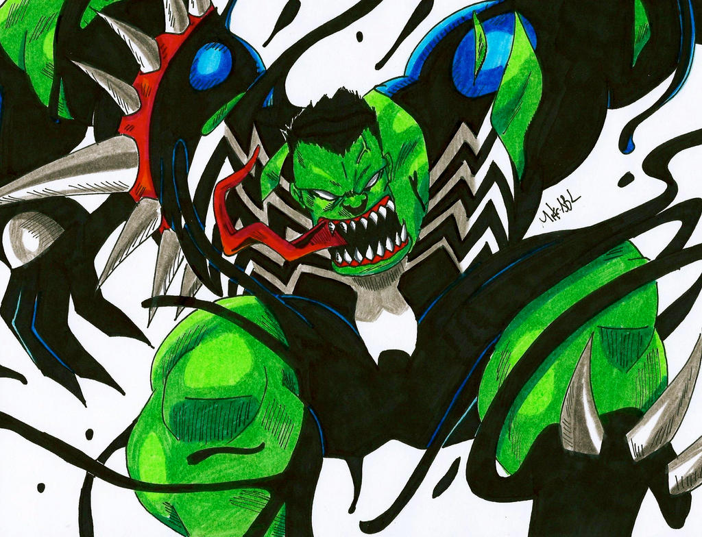 Symbiote Hulk By Mikees On Deviantart