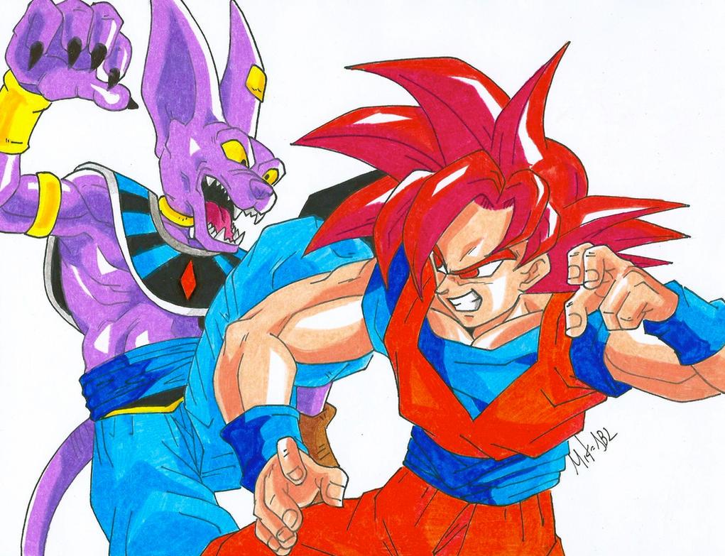 Goku Vs Bills by MikeES
