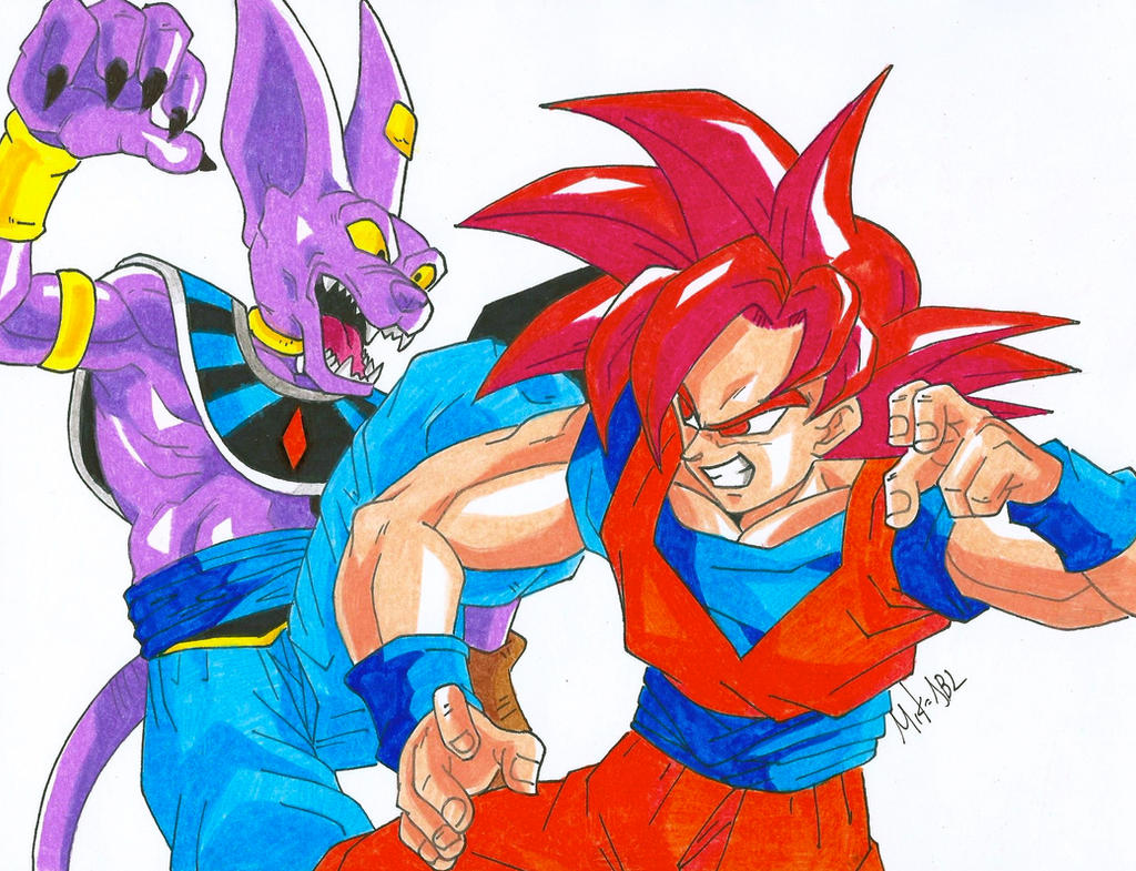 Goku Vs Bills by MikeES