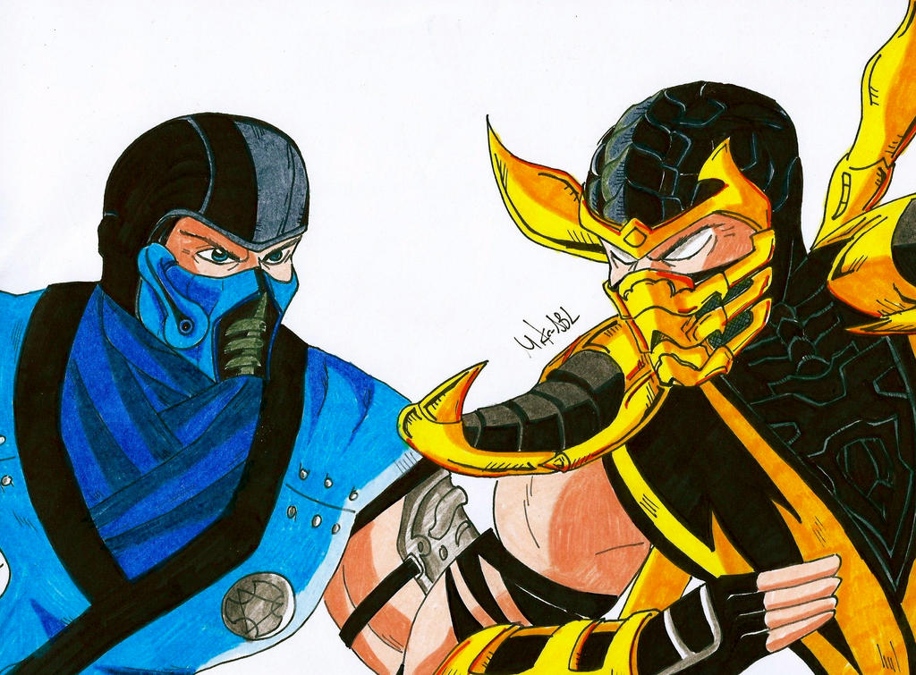 Sub Zero Vs Scorpion by MikeES on DeviantArt