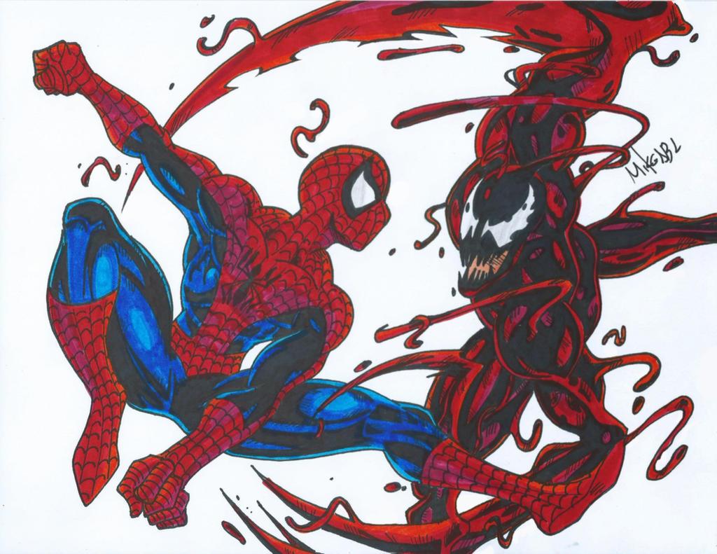 Spiderman vs carnage drawings - photo#2