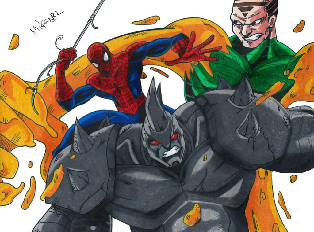 Spiderman Vs Rhino Vs Sandman by MikeES on DeviantArt