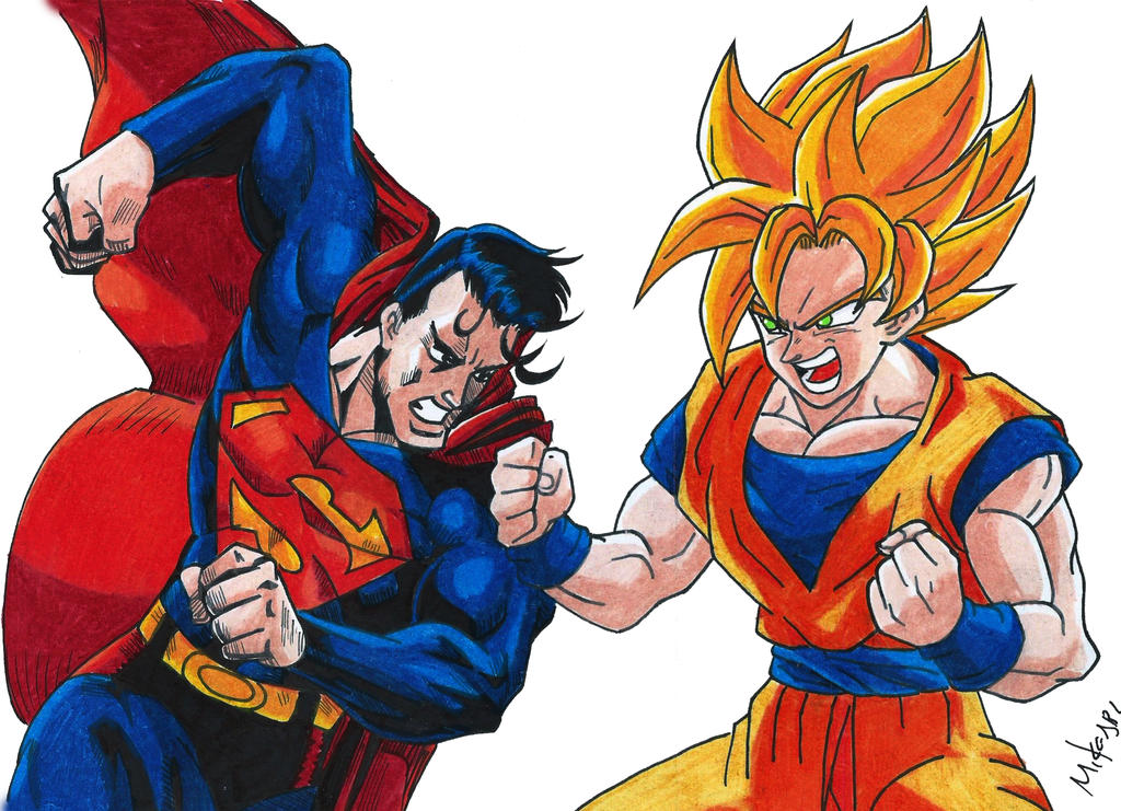 Superman Vs Goku by MikeES on DeviantArt
