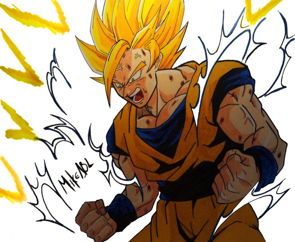 Goku SSJ2 by MikeES