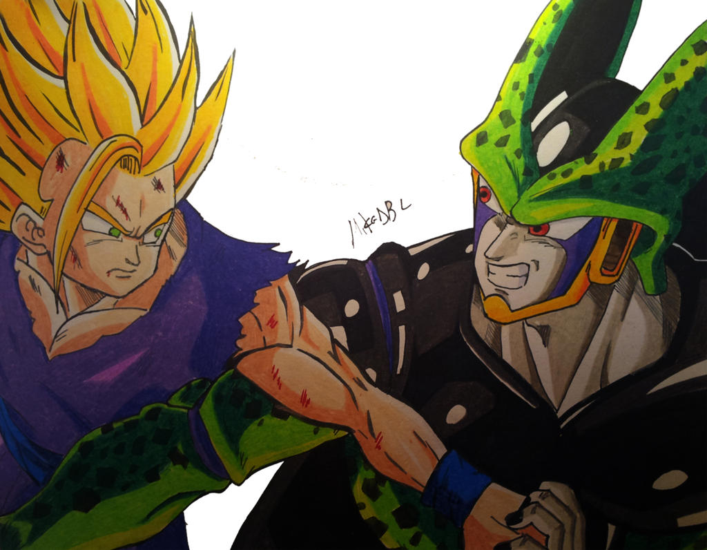Gohan Vs Cell by MikeES on DeviantArt - photo#39